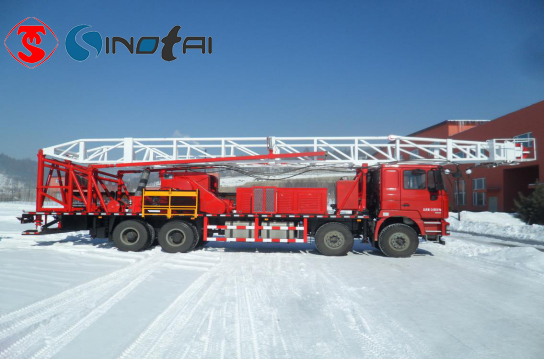 What is no guy-line workover rig